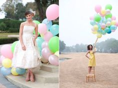 Float Away with Balloon Wedding Inspiration | OneWed