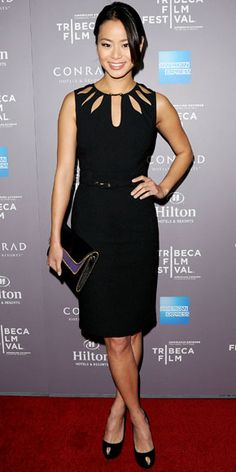 The cutouts really make this LBD stand out.