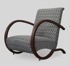 Fotel wypoczynkowy art deco, Czechy I połowa XXw. Po gruntownej renowacji przez galeriasasso@gmail.com