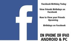Facebook Birthday Today – View Friends Birthdays on Facebook, Facebook Birthday Friends List Facebook Birthday, Birthday List, Friend Birthday, Birthday Celebration, Happy Birthday, Delete Facebook, Facebook Users, Facebook Photos, Triangle Sign
