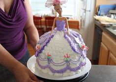 How to decorate a Barbie Doll Cake