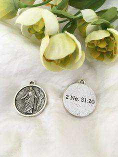 2016 YW Theme - Press Forward - Silver #2016-YW-Theme #LDS-charms #LDS-Jewelry