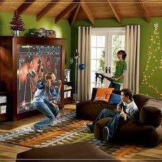 Game room tv room family room on pinterest game rooms scrabble and man cave Room decorating games for adults