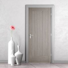 Somerset Light Grey Internal Door - Prefinished - July 21 2019 at Grey Doors, Oak Doors, Panel Doors, Screen Doors, Internal Doors Modern, Internal Fire Doors, Internal Wooden Doors, Double Front Entry Doors, Front Doors