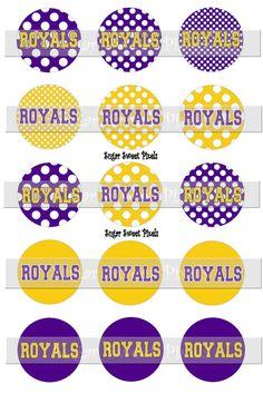 INSTANT DOWNLOAD Royals Polka Dot School Mascot by sugarnspicebow