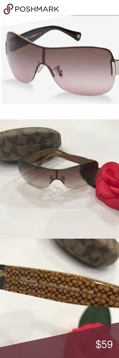 Coach rimless tortoise shell sunglasses Fashionable sunglasses with gradient lens. Tortoise shell arms with Coach emblem on both outer sides. Good condition! Coach Accessories Sunglasses