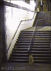 The guy who invented a new way of using the stairs: