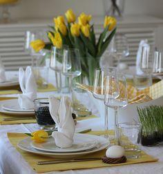Ideas for an Easter table setting - Kattausidoita pääsiäispöytään