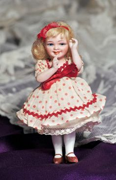 """""""VIVI"""" GERMAN ALL-BISQUE DOLL BY ORSINI"""