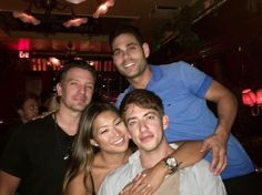"""""""ericpodwall #tbt This past Tuesday after the Dream Rooftop opening we met up with Jenna & Kevin for a glass of water. #friends #drinks #laughs """""""
