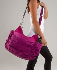 Lululemon...love this bag! I think I could double it as a diaper bag;)