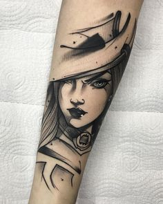 ~Gustavo Takazone - League of Legends - Caitlyn~ P Tattoo, God Tattoos, Dark Tattoo, Baby Tattoos, Grey Tattoo, Piercing Tattoo, Future Tattoos, Thai Tattoo, Maori Tattoos