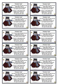 koupie2's media  Snowman soup poem printable lables