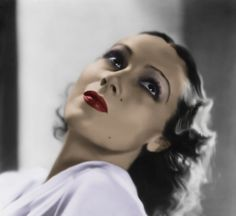 Dolores del Rio:  was a Mexican film actress. She was a star in Hollywood films during the silent era and in the Golden Age of Hollywood. She was considered one of the most beautiful actresses of her time and was the first Latin American movie star to have international success and eventually became a prominent actress in Mexican films.