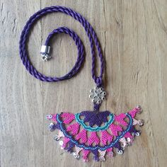 Turkish style needle lace necklace. a miracle of a tiny needle and thread.