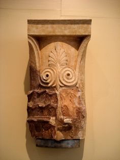 GREEK ARCHTECURE FROM 4TH TO 2ND CENTURY BC; Corinthian capital of Tholos at Delphi, Delphi Archaeological Museum