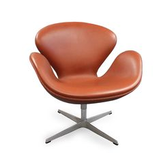 Fritz Hansen Swan Chair Elegance Walnut Leather