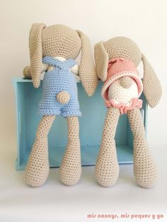 Mesmerizing Crochet an Amigurumi Rabbit Ideas. Lovely Crochet an Amigurumi Rabbit Ideas. Crochet Animal Amigurumi, Crochet Animal Patterns, Stuffed Animal Patterns, Amigurumi Doll, Knitted Dolls, Crochet Dolls, Crochet Yarn, Crochet Rabbit, Love Crochet