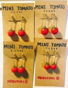 ミニトマトのイヤリング