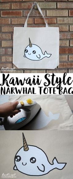 Create this adorable Narwhal Vinyl Tote with Cricut!