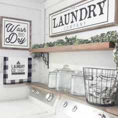 Wash And Dry Laundry Room Decor Modern Farmhouse Laundry Sign Laundry . - Wash And Dry Laundry Room Decor Modern Farmhouse Laundry Sign Laundry Room Sign, # Farmhouse laund - Rustic Laundry Rooms, Laundry Decor, Laundry Room Signs, Laundry Room Organization, Laundry Room Shelves, Organization Ideas, Basement Laundry, Storage Ideas, Laundry Hamper