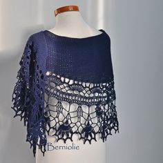 THIS LISTING IS FOR THE PATTERN ONLY Beautiful lace crochet shawl. Very elegant…