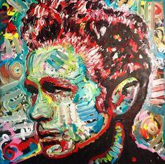 Original Oil Painting 36x36 James Dean by Matt by Matt Pecson