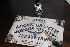 Ouija Spirit Printed Glass Cutting/ Serving Board~Gothic Housewares - pinned by pin4etsy.com