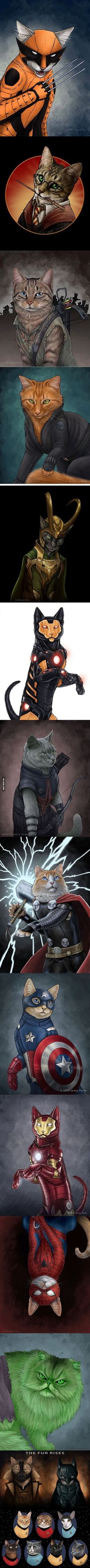 If our favourite characters were cats