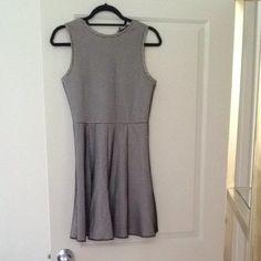 Zara Black Nude Fishnet Skater Lace Sleevless Dress $44