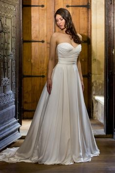 Augusta Jones - Sweetheart A-Line Gown in Satin