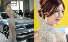 Li Ying Zhi Wears Diamond-studded Dress at Beijing Auto Show 2012
