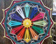 Mandala Ojo de Dios Proyecto Chakra  verde por BeHappyMandalaShop