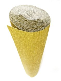 Italian Crepe Paper roll 180 gram - 801 METALLIC GOLD  - $8.50/98.5 in long roll