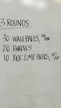 CrossFit workout I missed yesterday. Maybe a double WOD tomorrow? Goal: under 13:00 #cardio #WBS #itsgotime