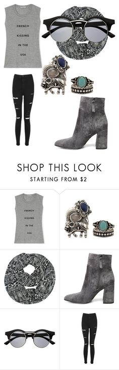 """""""Untitled #2445"""" by bellagioia ❤ liked on Polyvore featuring Rebecca Minkoff, Steve Madden, Retrò and Topshop"""
