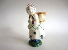 """Aluminia (Royal Copenhagen) Denmark JUS Child Welfare figurine: """"Girl from Skovshoved"""""""