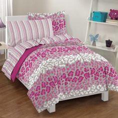 Leopard Print Bed Set Single
