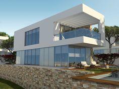 Imagen del exterior de una de las cinco viviendas proyectadas en Conil de la Frontera (Cádiz).