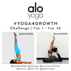 Hi guys !!!! We have another  #Yoga4Growth challenge coming for YOU in February with @KoyaWebb. Tag your Friends and Repost   We would like to continue helping you with your yoga journey.  We will focus on working up to 4 of your favorite poses in 28 days( we know it's leap year lol)  Week 1: King pigeon  Week 2: Crow pose  Week 3: Knee-To-Ear pose  Week 4: Forearm stand  Each week you will focus on one pose and we will teach you how to work up to it. Basically we will provide beginner poses…