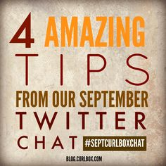 Check out these amazing tips from our Twitter chat with SheaMoisture: http://blog.curlbox.com/2015/09/30/4-amazing-tips-from-our-septcurlboxchat/