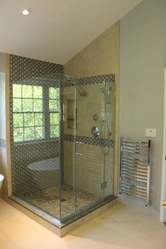 The new small bathroom design ideas are fresh and revolutionary, rethinking what we expect a bathroom design should look like. Modern Bathroom Decor, Bathroom Design Small, Bath Design, Bathroom Ideas, Tile Accent Wall, Wall Tile, Pebble Tile Shower Floor, Bath Fitter, Relaxing Bathroom