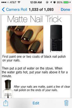 ✨✨Matte Nail Trick!✨✨ #Beauty #Trusper #Tip