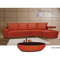 Matisse Modern Leather Sectional Sofa Beverly Hills Furniture  MyPriceForYou.com   Affordable Furniture