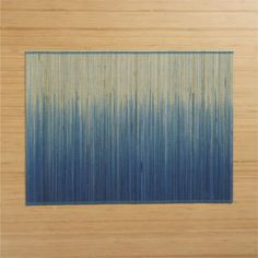 Oxley Blue Placemat  | Crate and Barrel