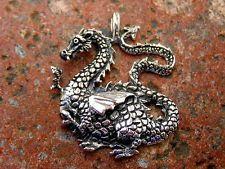 Anhänger Silber 925 dicker Drache mit Flügeln  Lindwurm