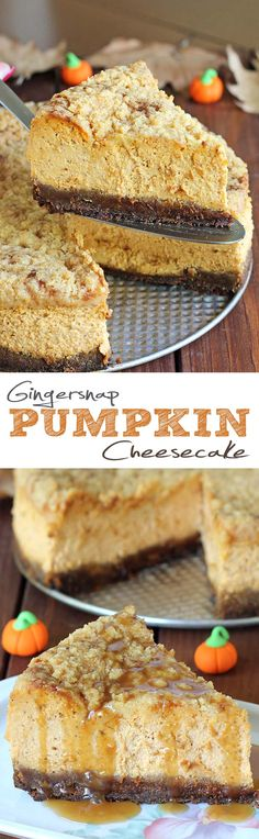 Pumpkin pie is always expected at Thanksgiving, but this year shake things up a bit and make Gingersnap Pumpkin Cheesecake instead.