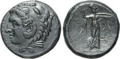 NumisBids: Numismatica Varesi s.a.s. Auction 65, Lot 15 : SICILIA - SYRACUSAE - EPOCA DI PIRRO (278-276 a.C.) Ae 23. D/...