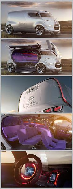 O futurista conceito da van Tubik da Citroën. Demais!