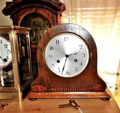4377aa99f8c Antique German Junghans Wurttemberg 8 Day Mantel Clock